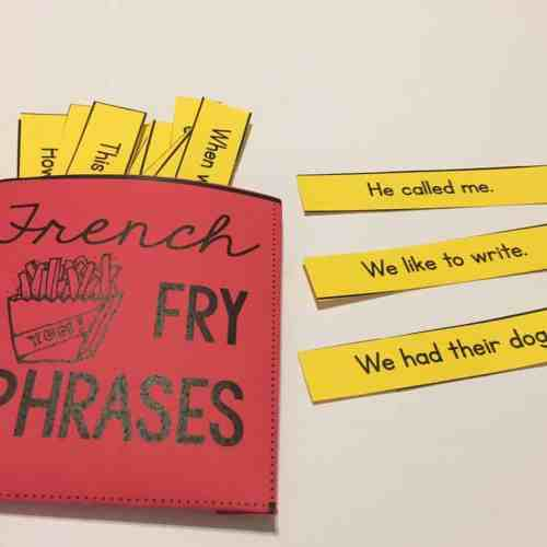 Fry phrases provide excellent practice for fluent reading and help students develop sight word mastery.