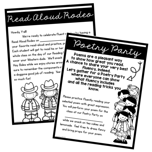 Celebrate your students' end of the year fluent reading successes with a Read Aloud Rodeo and a Poetry Party!