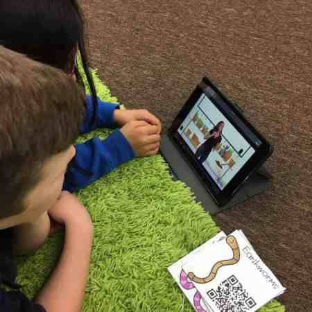 Use QR codes to help students explore gummy worms and earthworms during your living and nonliving unit.
