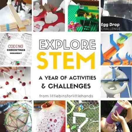 A Year of Hands on STEM experiences by Little Bins for Little Hands