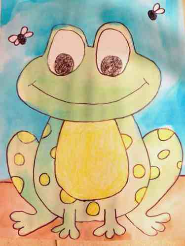 Directed frog drawing perfect for a frog and toad unit or an Arnold Lobel author study!