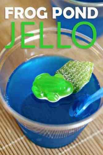 Frog pond jello snacks are the perfect compliment to a frog and toad unit.