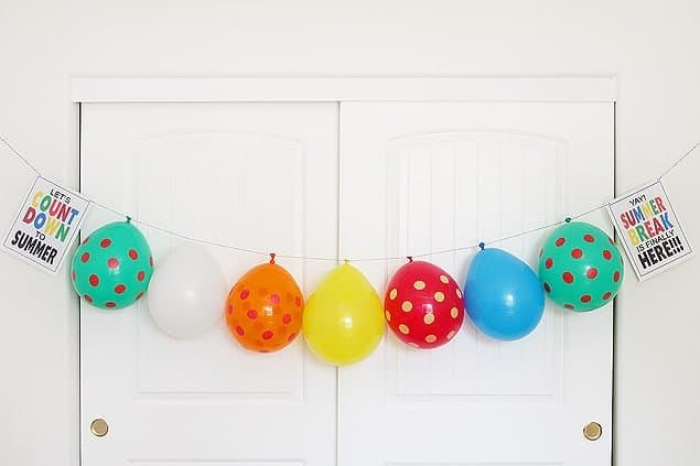 A balloon pop countdown is the perfect way to mark the end of school and the start of summer.