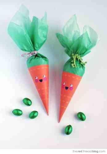 This Easter carrot craft would make anyone happy!
