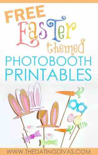 FREE Easter photo booth printables from The Dating Divas