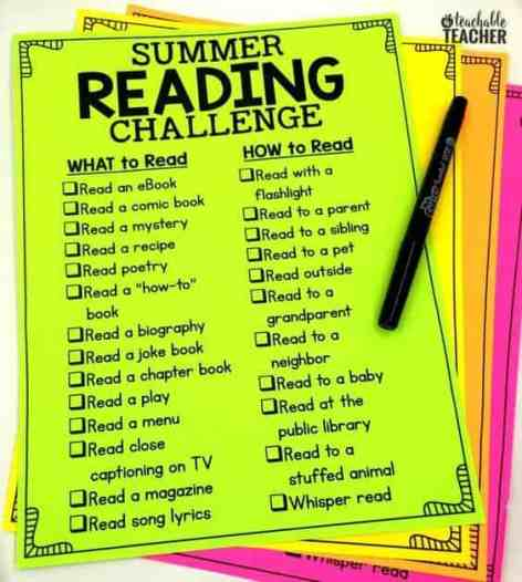This FREE summer reading challenge encourages students to read all summer.