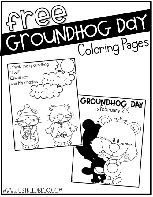 These FREE Groundhog Day coloring pages are perfect for February 2nd!