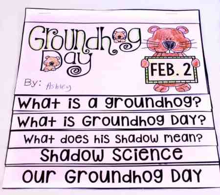 This low prep flip book is perfect for Groundhog Day!