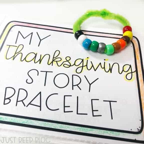 Have your students make Thanksgiving Story Bracelets with this FREE File!