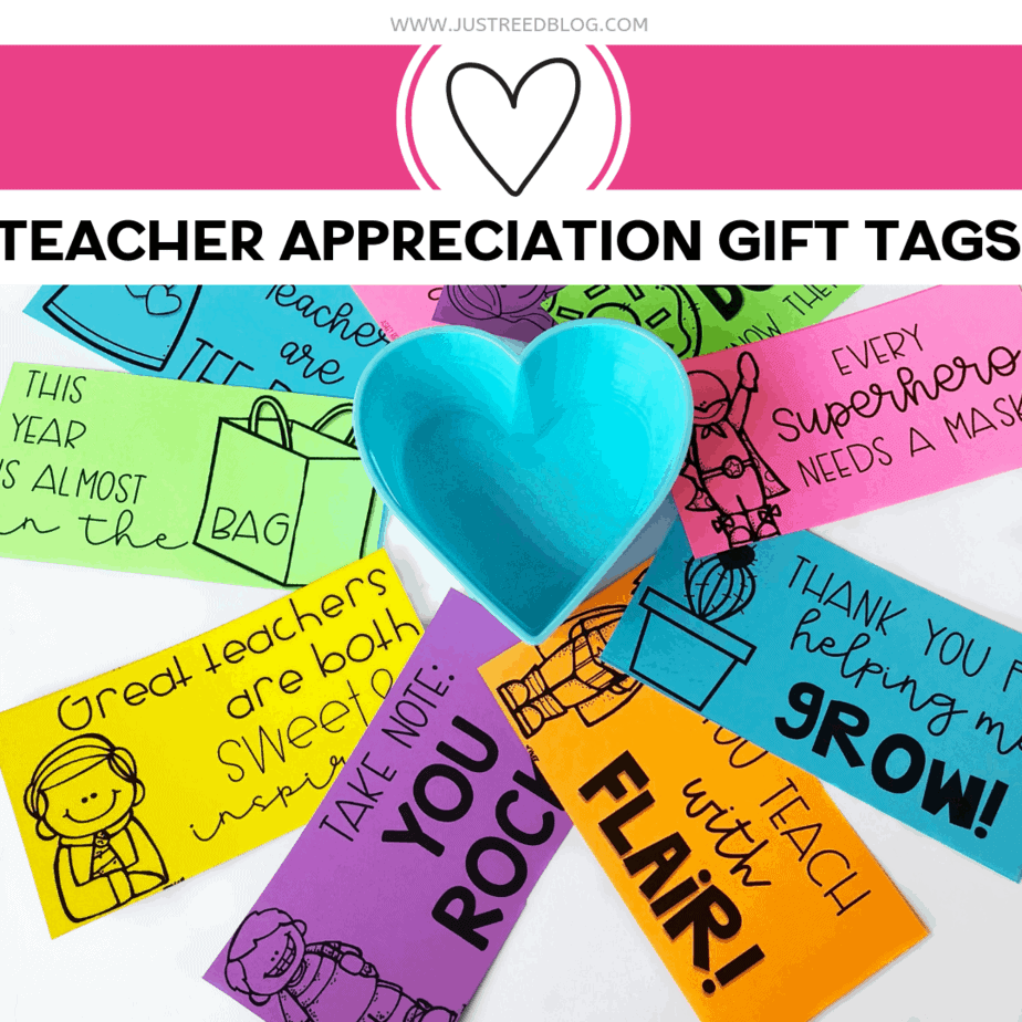 photograph relating to Free Printable Teacher Appreciation Gift Tags named Cost-free Printable Trainer Appreciation Present Tags - Simply just Reed Participate in