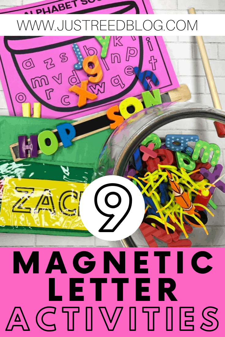 Magnetic letter activities and printables
