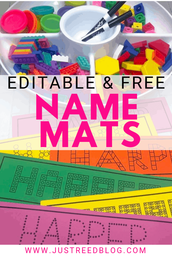 These FREE and editable name practice mats are perfect for preschool or kindergarten!