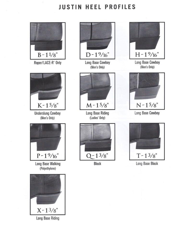Justin Heel Chart