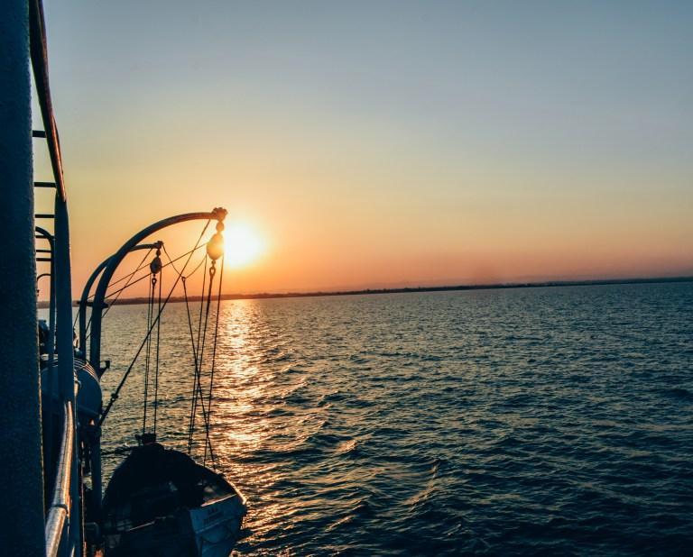 Nhotakota sunset from the MV Ilala