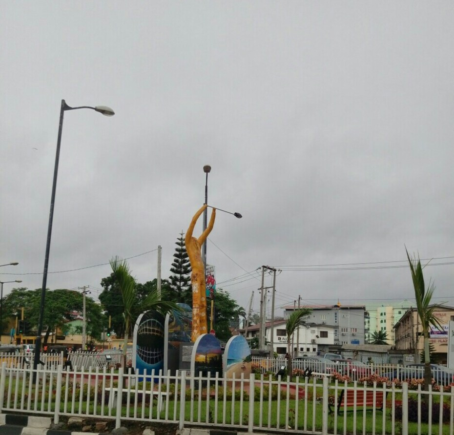 A statue of Fela in the city of Lagos