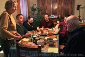 Xmas Eve Breakfast Table