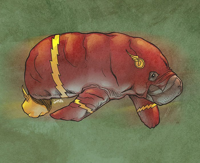 flash__the_fastest_manatee_alive__by_jharris