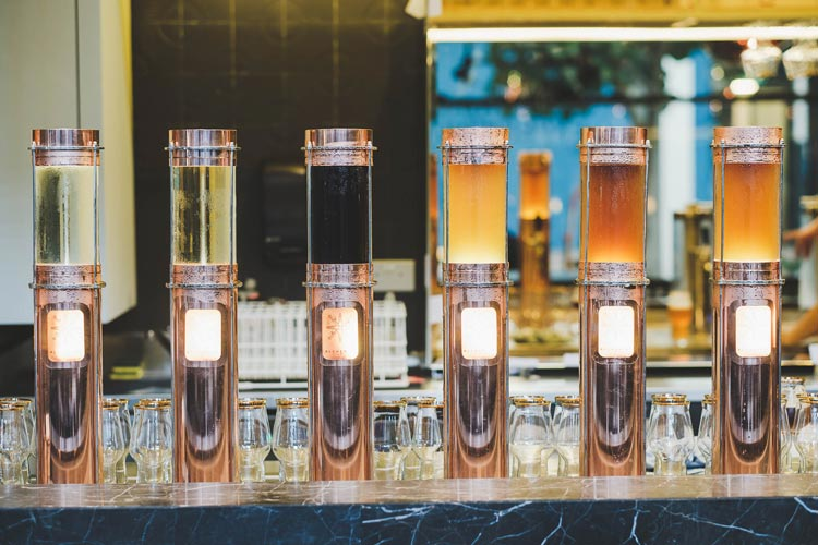 8 taps of draft beer from Little Island Brewing Co.