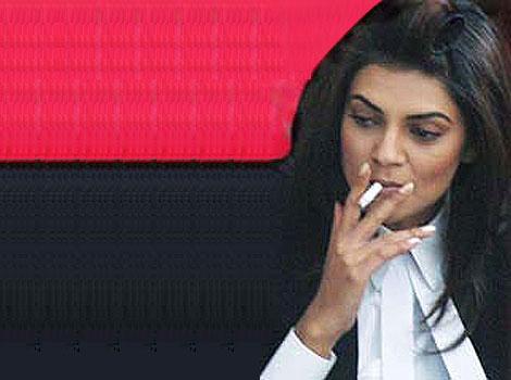 Shushmita Sen Addicted to Ciggerates for 2 decades