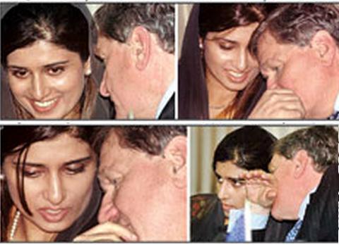 Hina Rabbani Khar with Richard Holbrooke