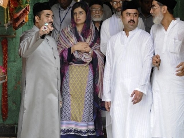hina rabbani khar in ajmer sharif