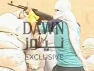 Karachi terrorists caught firing at camera