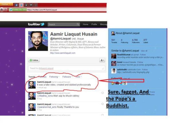 Amir Liaquat Response on Video Scandal