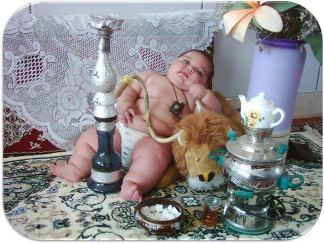 cute fat boy smoking