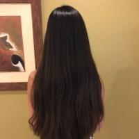 Long, very thick, virgin hair