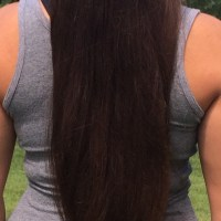 12 Inches of Brown Virgin Hair With Natural Red Highlights