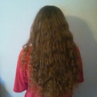 Thick curly blonde virgin hair 12+ inches