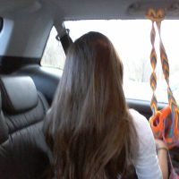 Extra virgin hair, rich brown 12 inches from 12 year old female straight with slight wave