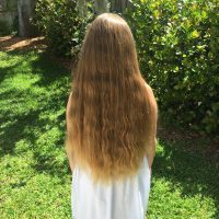 """16"""" blond 10 yo virgin hair"""