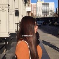 Asian straight shiny virgin long black dark brown hair