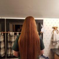 Virgin red hair