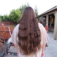 "Virgin Wavy Brown Hair 16"" Braided, Never Dyed, Bleached, Curled, Straightened, Blowdried etc."