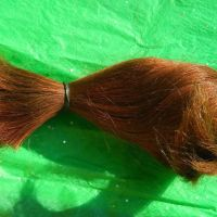 Real Virgin Human Hair Wavy Red Orange Auburn Cut 100% Natural No Dyes or Chemicals