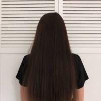 "10"" Healthy 3"" Thick Dark Brown Hair"