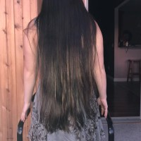 23 inches Asian Brown Hair
