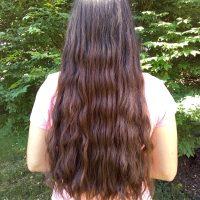 18 inch Italian hair: 4 inch thick, virgin, high-volume, dark brown