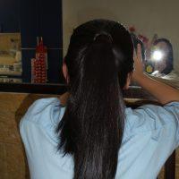 10+ inch black hair