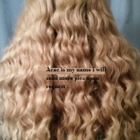 20 inches naturally wavy virgin blonde hair
