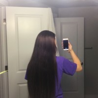 Dark brown hair up to 20 inches 4 inches thick