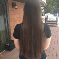 Virgin 16 inches of Auburn/Brown Hair from Healthy American/Caucasian woman in 20s; not heated/dyed