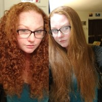 Natural red curly virgin hair! 10 inches!