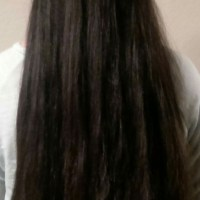 "17"" Thick, Korean, Virgin, Straight, Black/Dark Brown Hair"