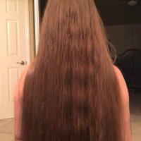 "18"" of Fine honey blonde hair"