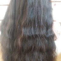 15 inch black virgin hair wash hair twice a week