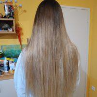 """13"""" European Bleached Blonde Straight Hair"""