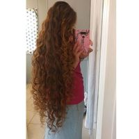 Super thick, curly brown colour virgin hair